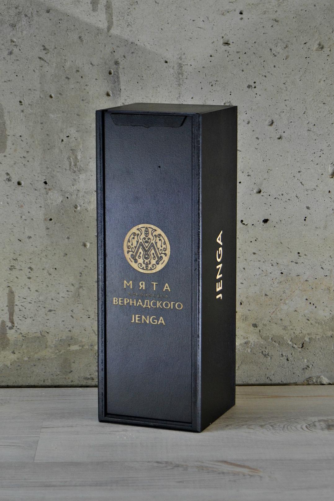 """Коробка для игры """"Jenga"""" черная"""