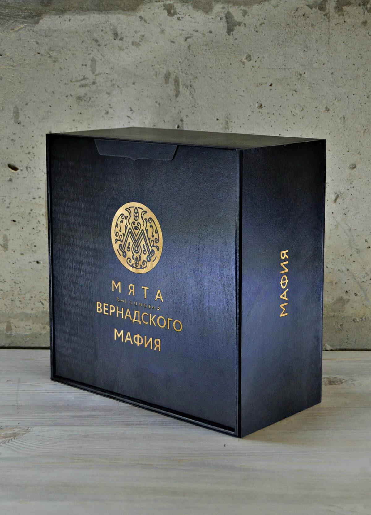 """Коробка для игры """"Мафия"""" черная"""
