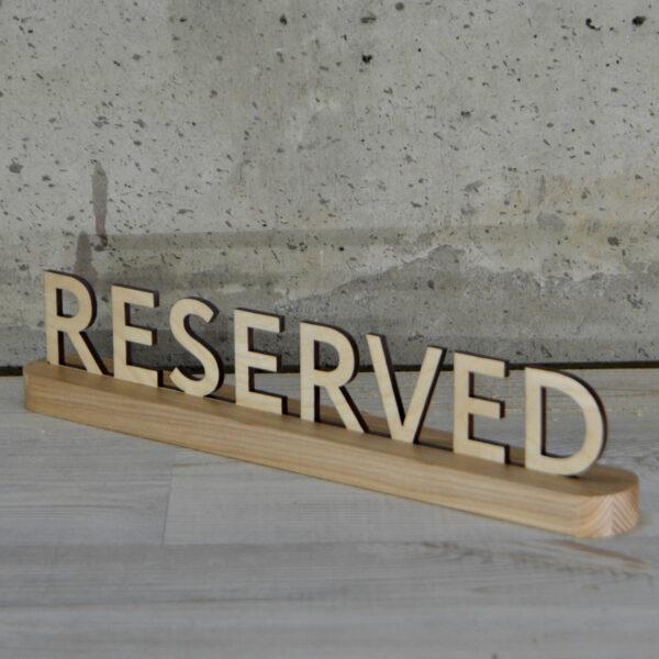 табличка резерв стола