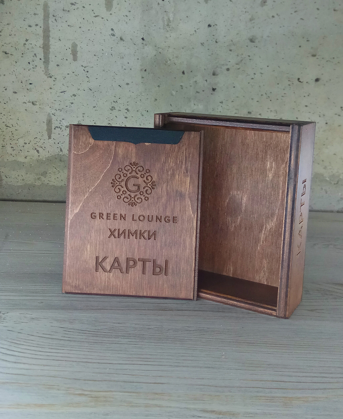 Коробка для игральных карт орех